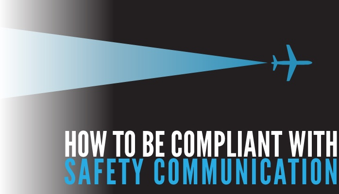 How to be compliant with safety communication aviation SMS
