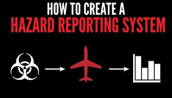How to create a hazard reporting system in aviation SMS