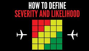 How to define severity and likelihood in risk matrix in aviation SMS-1