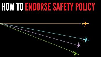 How to endorse Safety Policy in aviation SMS