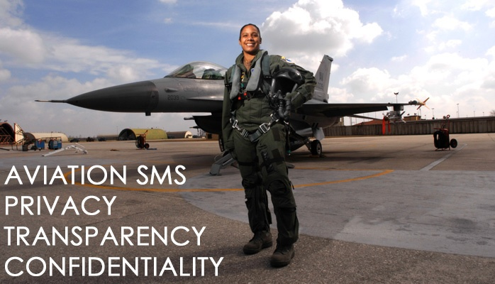 Privacy, transparency, and confidentiality in aviation SMS