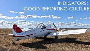 What are indicators of good hazard reporting culture in aviation SMS