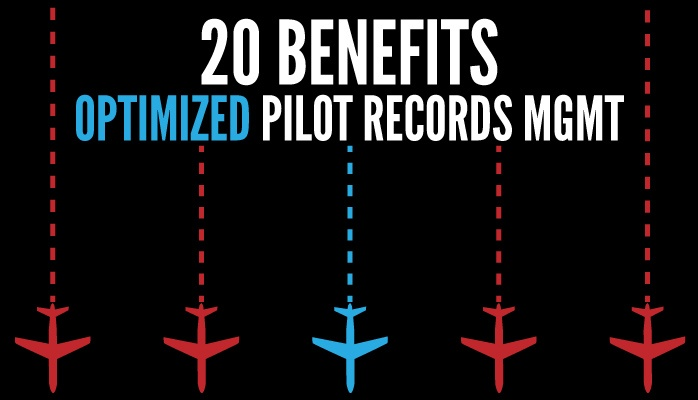 20 benefits of optimized pilot records management in aviation SMS