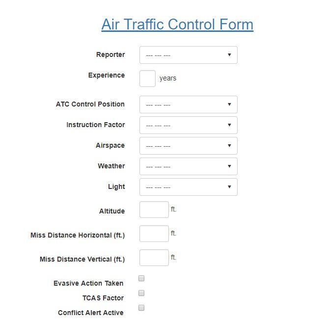 Air Traffic Control Report