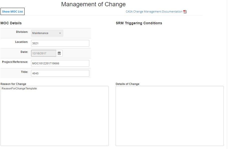 Aviation SMS change management