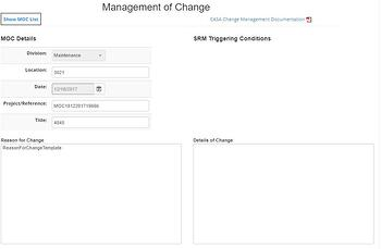 Aviation SMS change management