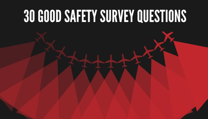 Good safety survey questions in aviation SMS