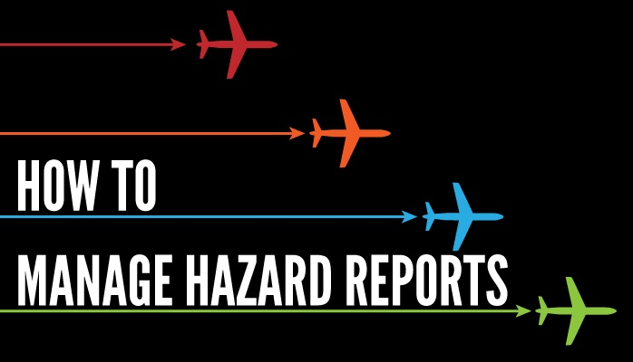 How to manage hazard reports in aviation SMS