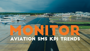 Monitor aviation KPI key performance indicators trending at airlines airports