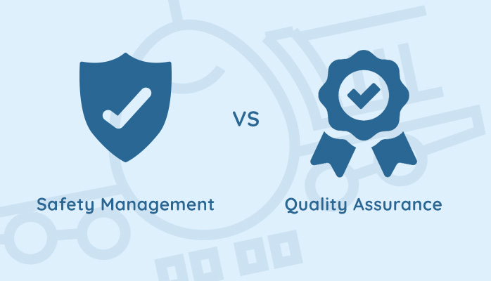 Safety management vs quality assurance in aviation SMS