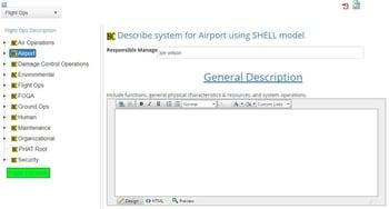 System description in aviation SMS