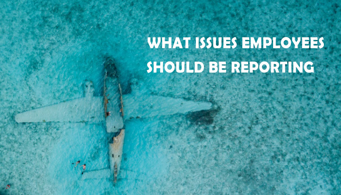 What issues employees should be reporting in your aviation SMS
