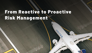 Reactive Proactive Risk Management in airline airport SMS programs