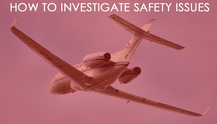 How to investigate safety issues in aviation SMS