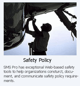 Aviation Safety Policy and Objectives for ICAO SMS Programs