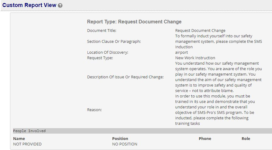 Review safety reports in SMS Pro