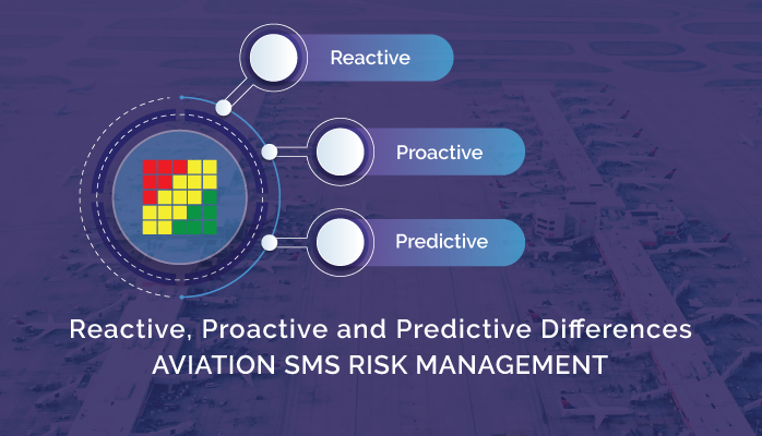 Difference between Reactive, Proactive and Predictive Risk Management in Aviation SMS