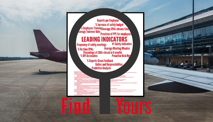 Find Leading Indicators in aviation SMS Programs