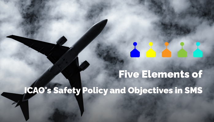 Five Elements of ICAO's Safety Policy and Objectives in SMS