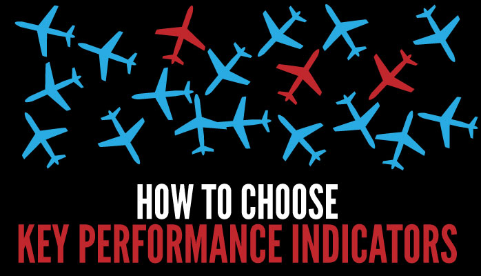 Choosing key performance indicators KPIs at airlines airports. Also known as safety performance indicators SPIs